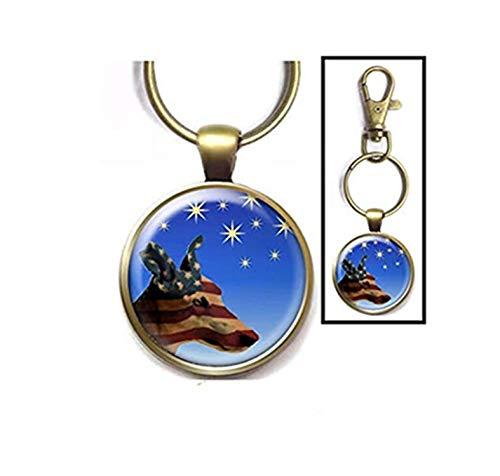 Llavero Heng Yuan Cheng patriótico diseño Galgo