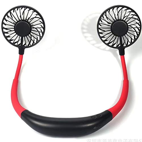 SUPKEY Hands Free Portable Neck Fan - Rechargeable Mini USB Personal Fan Battery Operated with 3...