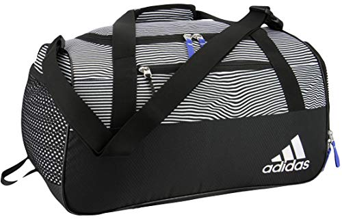 adidas Women's Squad Duffel Bag, Optic Stripe/Black/Hi - Res Blue, ONE SIZE