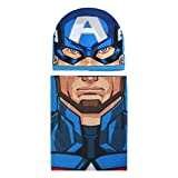 Cerdá Conjunto 2 Piezas Avengers Capitan America Set de bufanda, gorro y guantes, Azul (Azul 001), One Size (Tamaño del fabricante:única) para Niños