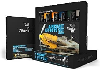 ABTEILUNG 502 Aircraft Effects Weathering Oil Paint Set (6 Colors) 20ml Tubes