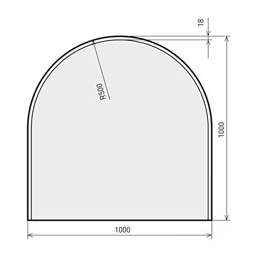 raik B40009 Kamin Glasplatte Zunge inkl. Facette