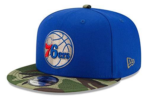 New Era - Gorra NBA Philadelphia 76ers All Star Game Camo 9Fifty Snapback - Azul azul Talla única