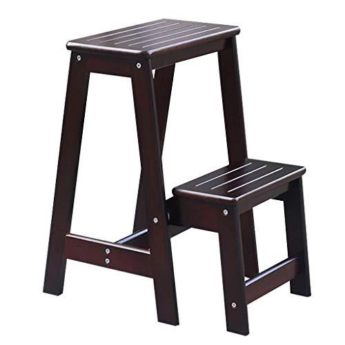 Escabeau Ménage Marchepied Banc Chaussures Portable Chaises Ladder en Bois Massif escabeaux étagère de Rangement Salon/Cuisine/Balcon QIQIDEDIAN