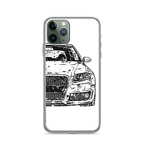 Fundas para teléfono Pure Clear, Antideslizantes y Protectoras para A4 S4 Rs4 B7 Ols Compatible con iPhone Samsung Xiaomi Redmi Note 10 Pro/Note 9/8/9A/Poco M3 Pro/Poco X3 Pro Funda