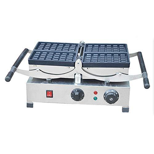 YFGQBCP Columpio Comercial Galleta Mollete Que Hace la máquina rotativa de la máquina Wafflera con Control de Temperatura de Acero Inoxidable, Antiadherente, sincronización exacta