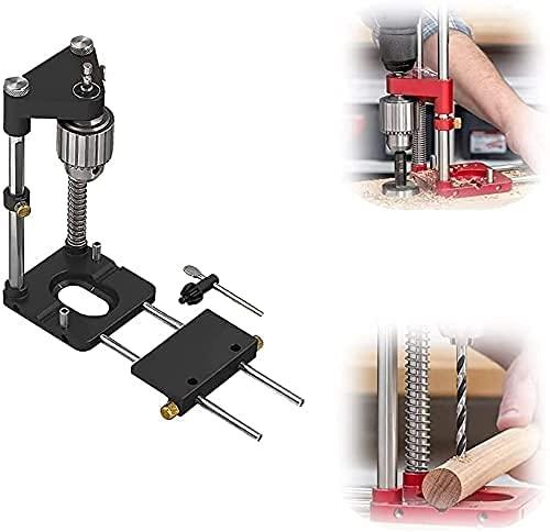 Der beste Bohrer-Locator für die Holzbearbeitung im Jahr 2021, verstellbare Mini-Tischbohrmaschine mit Hochgeschwindigkeitswerkzeug, Woodpeckers Auto-Line Drill Guide (black)