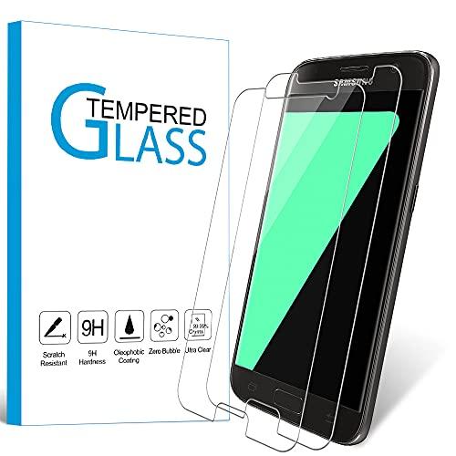 Carantee [2 Stück] Panzerglas Schutzfolie für Samsung Galaxy S7, 9H Härte, Anti-Kratzen, Anti-Fingerabdruck, HD Klar, Bläschenfrei 2.5D Rand Hüllefreundlich Panzerglasfolie
