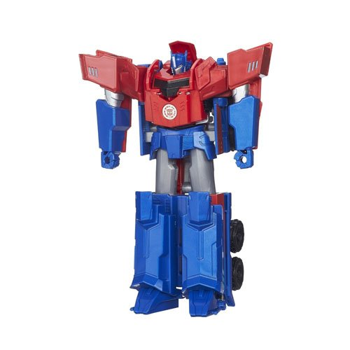 Hasbro Transformers B0899ES0 - Robots In Disguise 3-Step Changers Optimus Prime, Actionfigur