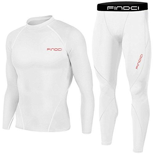1Bests Mannen Compressie Panty's & Shirts Set Gym Leggings Fitness Sport Hardlopen Snelle Droge Yoga Sportkleding Suits