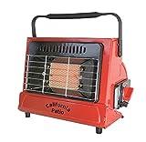 California Patio カリフォルニアパティオ カセットガスヒーター (ファイヤーレッド) 屋外専用アウトドアヒーター 低温時装置ジェネレーター搭載 カセットガスストーブ仕様
