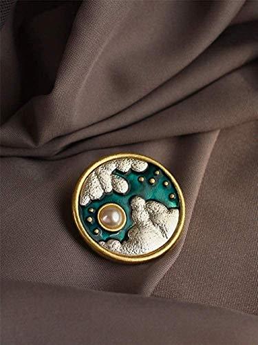 FOPUYTQABG Broche Broche Insignia de Corte de Esmalte Exquisito Broche Popular Abrigo...