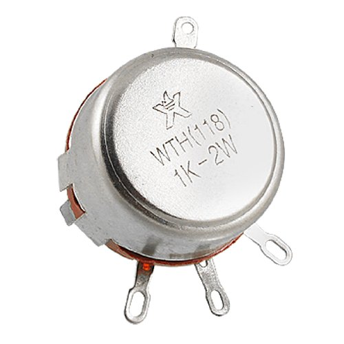 Uxcell a11110700ux0046 WTH(118) 1K Ohm 2W Carbon Composition Rotary Taper Potentiometer