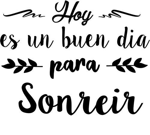CrisPhy® Frase Vinilo'Hoy es un buen dia para sonreir' Vinilos decorativos,...
