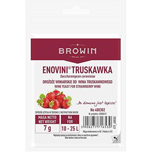 Wijngist voor Aardbeien - 7g voor 25L ENOVINI Browin – Actieve Gedroogde Wijnbereiding Gist | Premium