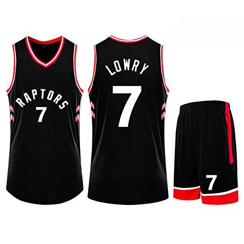 Z/A Colina Toronto Raptors Kyle Lowry # 7 Traje Ropa De Baloncesto Hombres Camiseta De Deporte Entrenar Ropa para Aficionados Niños Y Adultos Traje Chaleco Pantalones Cortos,2XL