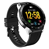 HAOQIN HaoWatch VS1 1.3 Pollici Full Touch Screen IP67 Smartwatch impermeabile con cardiofrequenzimetro Compatibile iPhone telefoni Android argent