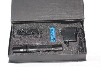 Profi cree flashlight lampe torche à lED hI-power avec 2 batteries lithium-ion-chargeur pour allume-cigare