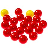 Hungry Hungry Hippos -Compatible Replacement Marbles - 21 Pieces (19 Red and 2 Yellow) - Perfect Replacement Game Balls - by Impresa Products