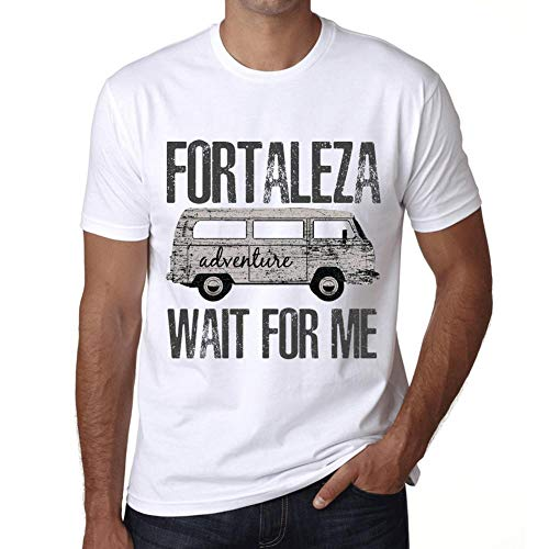 Hombre Camiseta Vintage T-Shirt Gráfico Fortaleza Wait For Me Blanco