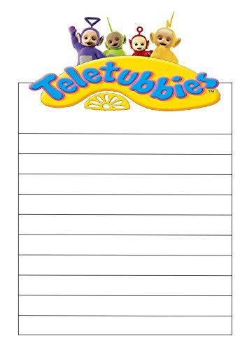 Lot de 25 feuilles de papier à lettre pré-imprimé Motif Télétubbies Format A4