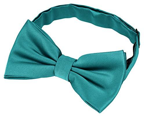 Helido Fliege für Herren, 12 verschiedenfarbige Schleifen/Fliegen passend zu Hemd und Anzug oder Smoking + Geschenkbox (Türkis)