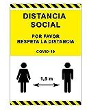 Señalización Coronavirus | Cartel Distancia de...