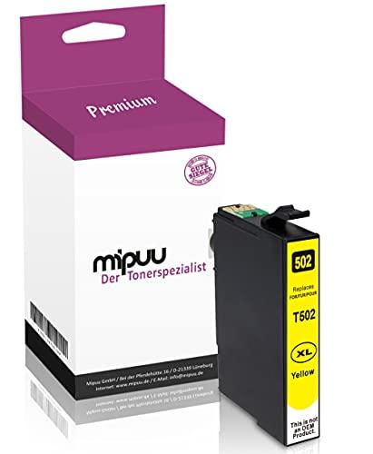 Mipuu Tinta compatible con Epson 502 C13T02W44010 XL (amarillo) para Expression Home XP-5100 XP-5105 Workforce WF2860 WF2860DWF WF2860TD WF2865 WF2865DWF
