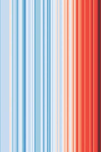 Global Warming Stripes Notebook: Climate Change Climate Strike Notepad Journal. 6 x 9 Inch Lined College Ruled Note Book With Soft Matte Cover For Scientists, Environmentalists.