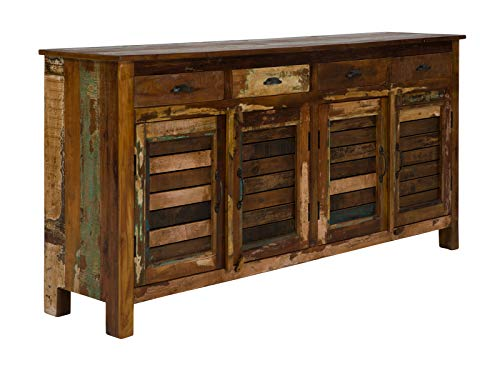 Massivum Avadi Sideboard, recyceltes Mango- und Akazienholz, bunt, BxHxT: 182x90x45 cm