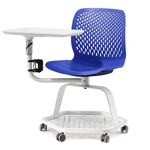 Sedia Da Conferenza Sedia Da Conferenza Multifunzionale Con Scrittoio Sedia Per Aula Mobile Sedia Per Computer (Color : Blue, Size : 77x67x85cm)