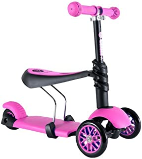 Yvolution Y Glider 3in1   3 Wheels Mini Kick Scooter with Removable Seat Great Present for Kids and Toddlers