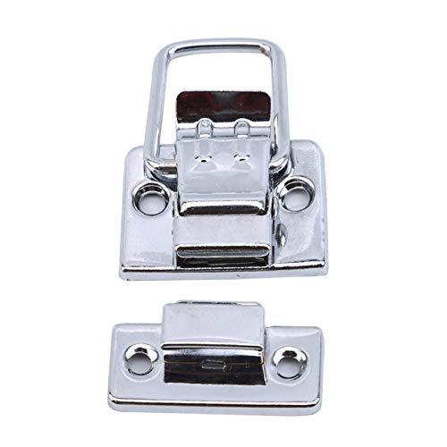 Aiasiry Lock Catch Metal Latch Broche Caja de herramientas Hebilla para caja Estuche cosmético Maleta Caja de medicina (Plata)
