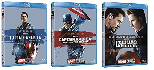 Captain America Trilogia (3 film din BLU-RAY Edizione Marvel 10° anniversario) Edizione Italiana