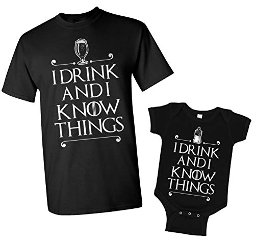 I Drink and I Know Things Dad & Baby Matching Set
