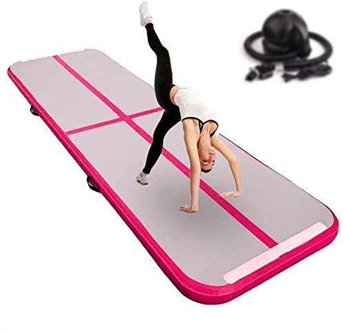 FBSPORT 10cm hoch Verdicken 3M Aufblasbar Gymnastik Tumbling Matte Air Track,Trainingsmatte mit Luftpumpe,Gymnastikmatte mit Tragetasche,airtrack Tumbling für zuhause, Outdoor,Yoga usw