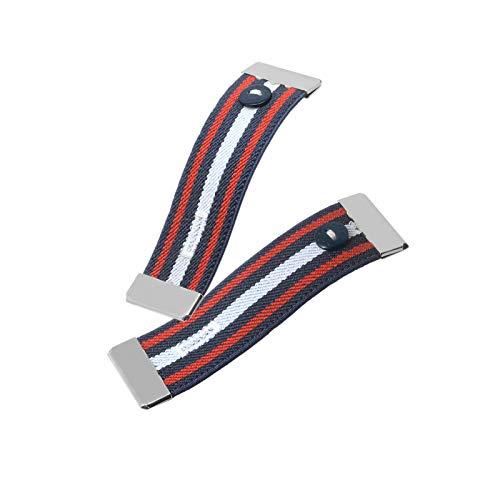 Nato Cuff - Stoppen Sie das gerollte Langarmhemd - Ziehen Sie es elegant hoch - Elastische rutschfeste Hemdmanschettenhalter (Charles)