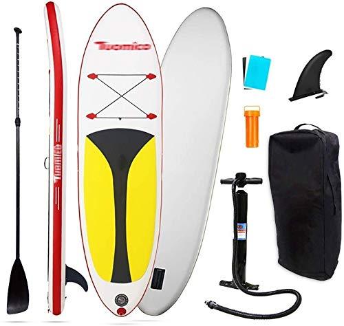 FANLIU Sup Inflable Stand Up Paddle Board de Doble cámara de la Bomba de Mano con Ruedas morral del Recorrido de Seguridad del Tobillo Correa for Todos los Niveles