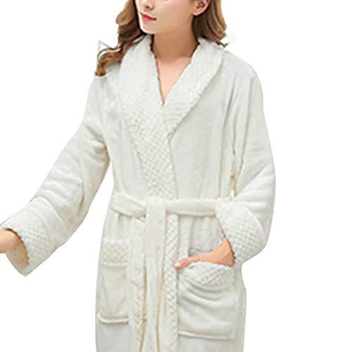 Crystallly dames badjas lange badjas sauna jas van polyester vezels met eenvoudige stijl twee praktische zakken wit huis mode comfortabele pyjama