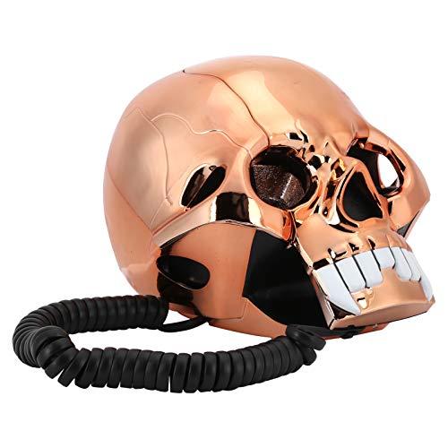 Dpofirs Teléfonos fijos Retro de Halloween, teléfono Divertido e Innovador, teléfono Fijo portátil con luz LED para el hogar y la decoración Cableado de EE. UU./Reino Unido