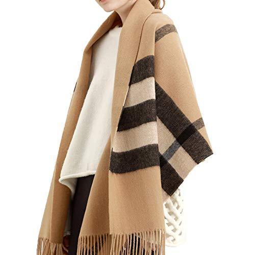 TIANPIN sjaal winter kasjmier warm dikke oversized dubbelzijdig kasjmier sjaal pure wol Britse Plaid dual-gebruik