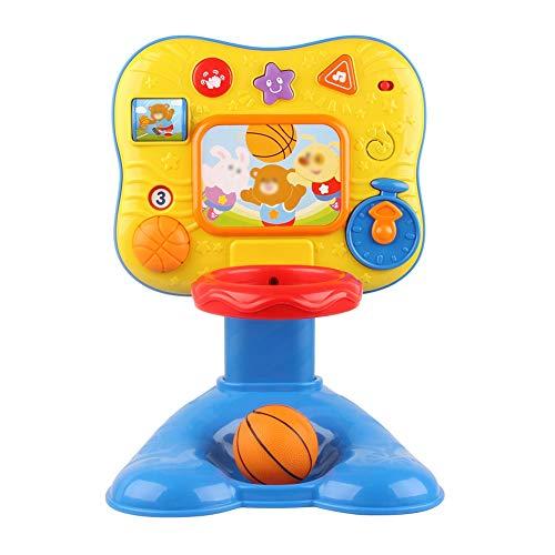 SONGYU Niños Canasta Aro De Baloncesto Altura Ajustable 40-50cm Aro De Baloncesto Tablero Hogar Interior con Música, Sonido Y Luz Juguetes Educativos para Niños Regalos Divertidos para Niños