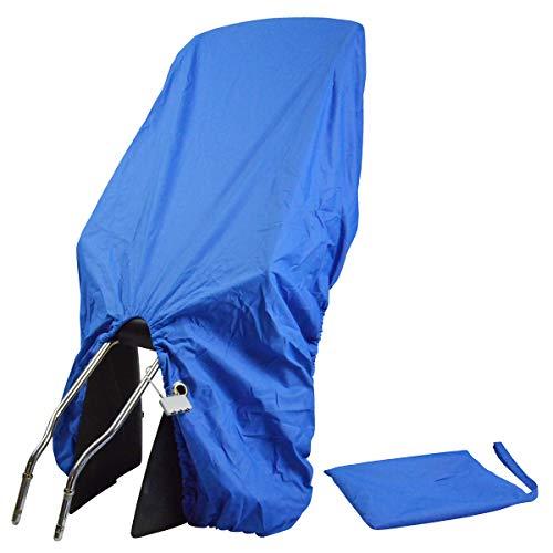 TROCKOLINO sicuro - Regenschutz für Fahrrad-Kindersitz mit Schloss, blau