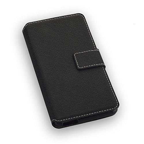 Titan Mobilfunk Zubehör Book Style Handy Tasche - NAS. - kompatibel mit Alcatel A5 LED - Cover Hülle Schutz Hülle Etui Schutzhülle in der Farbe Schwarz - (Bulk)