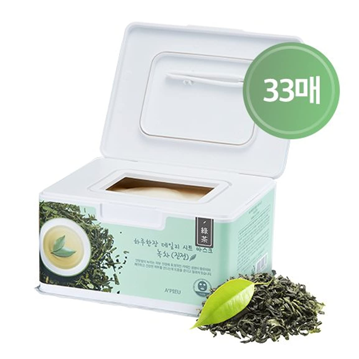 唯一喜ぶ流出APIEU DAILY Sheet Mask Green Tea (Soothing) / [オピュ/アピュ] デイリーシートマスク_緑茶 (スージング) [並行輸入品]