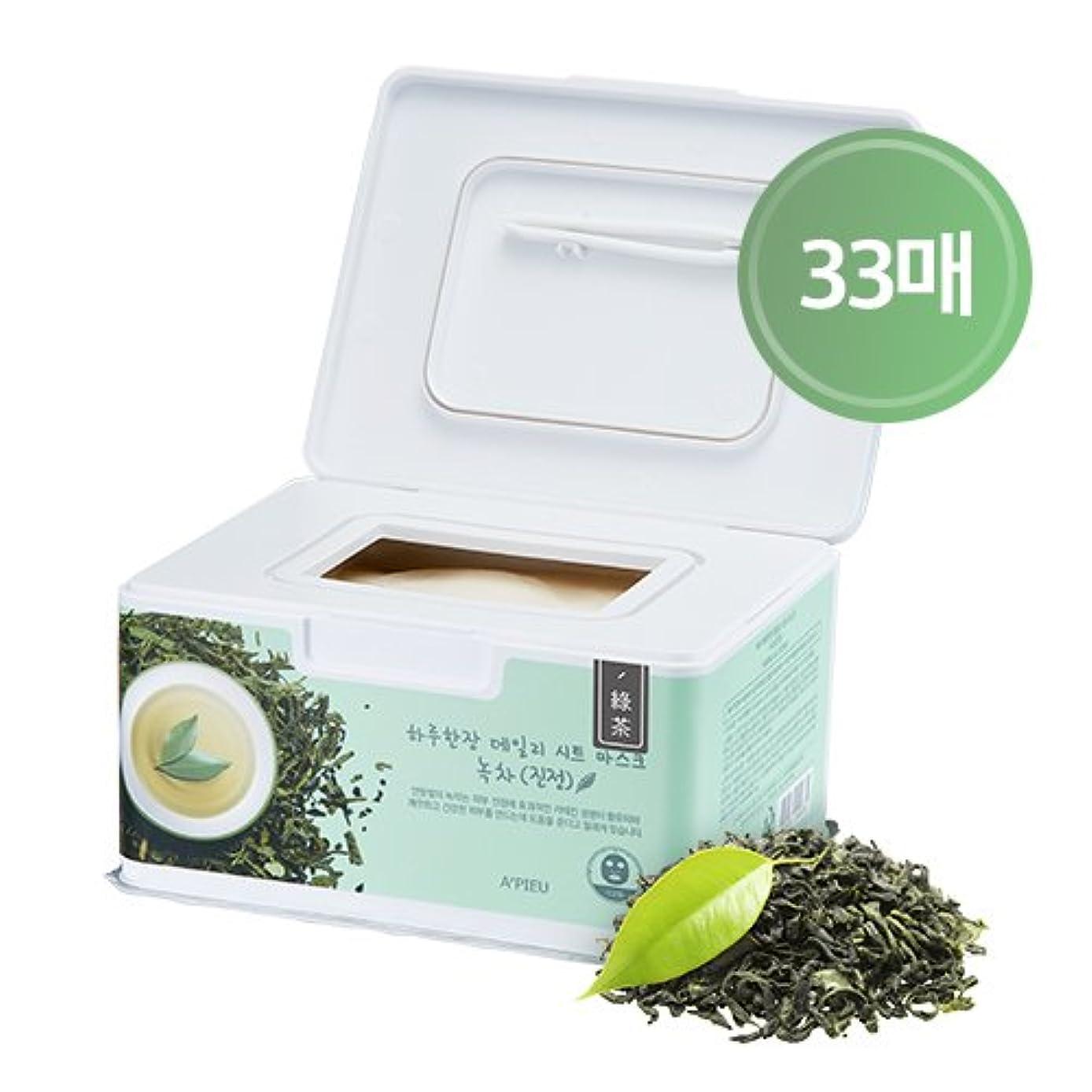うつ水っぽい方向APIEU DAILY Sheet Mask _ Green Tea (Soothing) / [オピュ/アピュ] デイリーシートマスク_緑茶 (スージング) [並行輸入品]