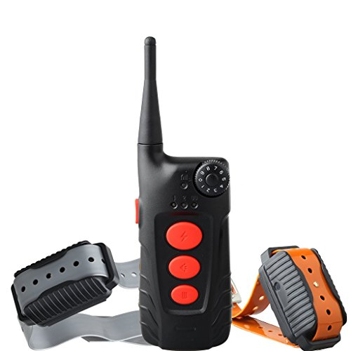 Aetertek Dog Pet Barking Electronic Shock Training Collar Remote Control Wireless E-Collar Rechargeable Waterproof (Two Dog Training System)