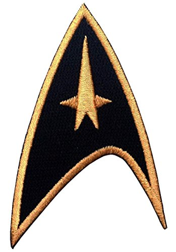 Titan One Europe - Starfleet Command Star Trek Costume Cosplay Aufnäher Aufbügler (Schwarz)