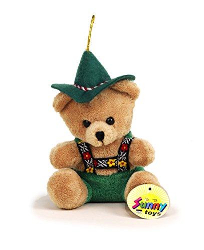 Sunny Toys 31309 - Peluche Orso Alpino con Gancio, Circa 15 cm