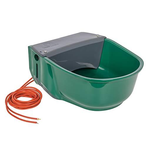 VOSS.farming beheizte Schwimmertränke Thermo S35-230V, 31 Watt, 230V automatisches Thermostat, Spezialkunststoff, Frostschutz Pferde Rinde Galloways Schafe Ziegen Hunde Tränke Selbsttränke